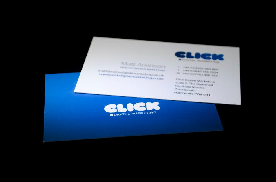 Business card design and print for Hampshire and Brighton